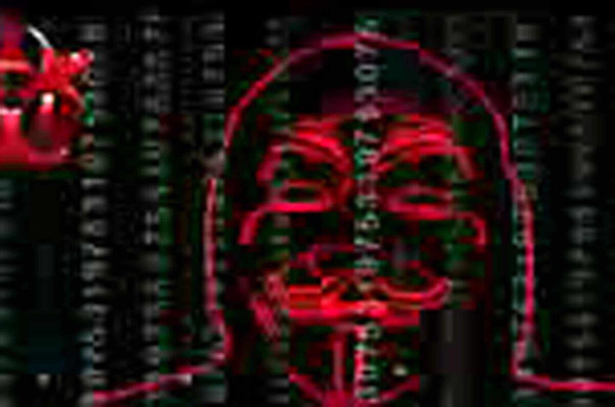 Un frame del video con cui gli hacker di Anonymous hanno bloccato centinaia di siti legati ai jihadisti dell'Isis, per ritorsione dopo l'attentato a Charlie Hebdo. Roma, 9 febbraio 2015. ANSA/WEB