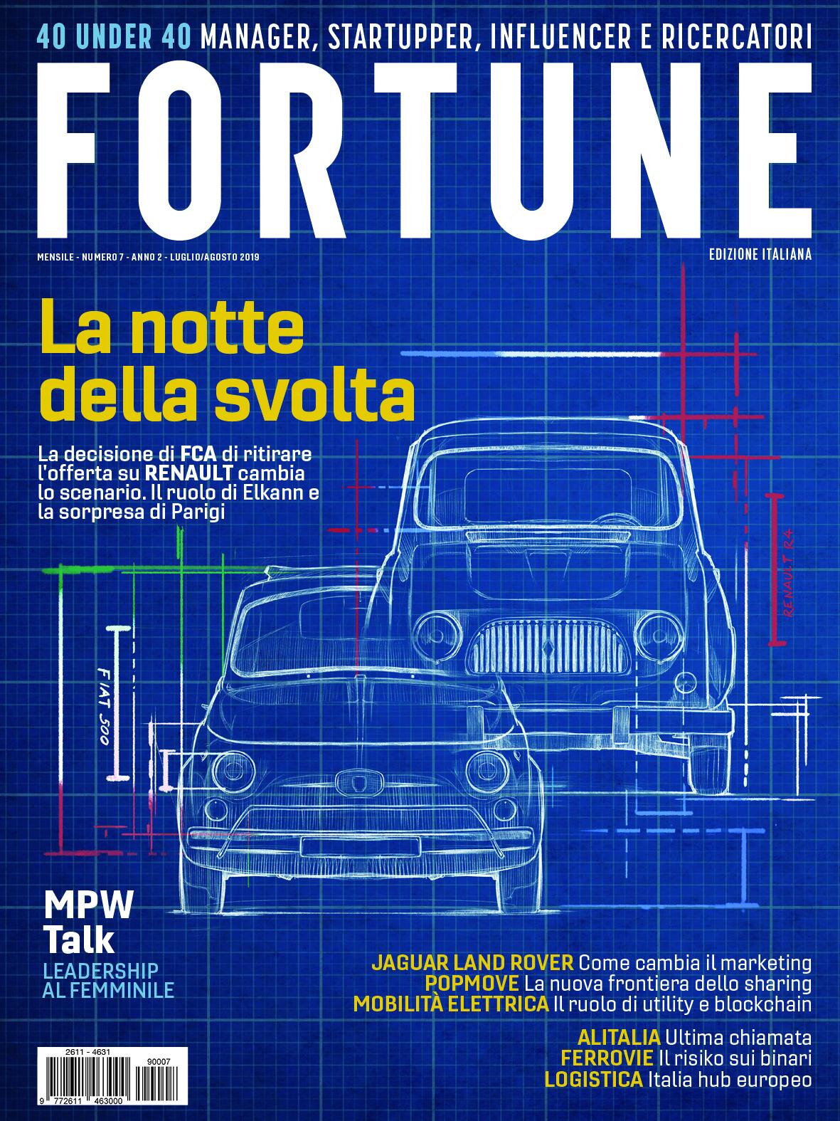 Cover Fortune Italia luglio agosto 2019