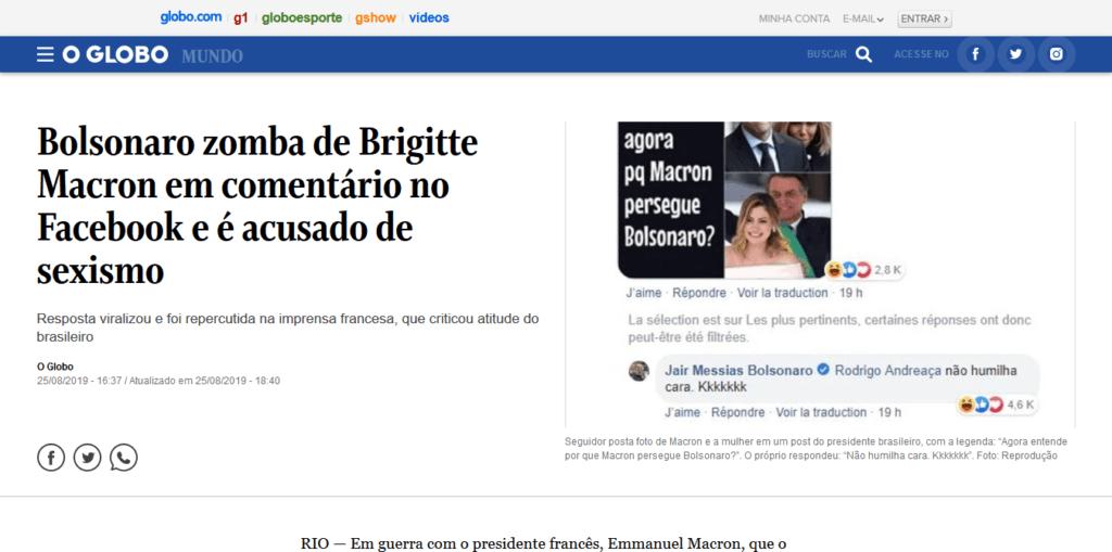 bolsonaro macron amazzonia