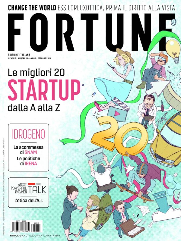 fortune italia migliori 20 startup 2019 fortune ottobre 2019 idrogeno snam