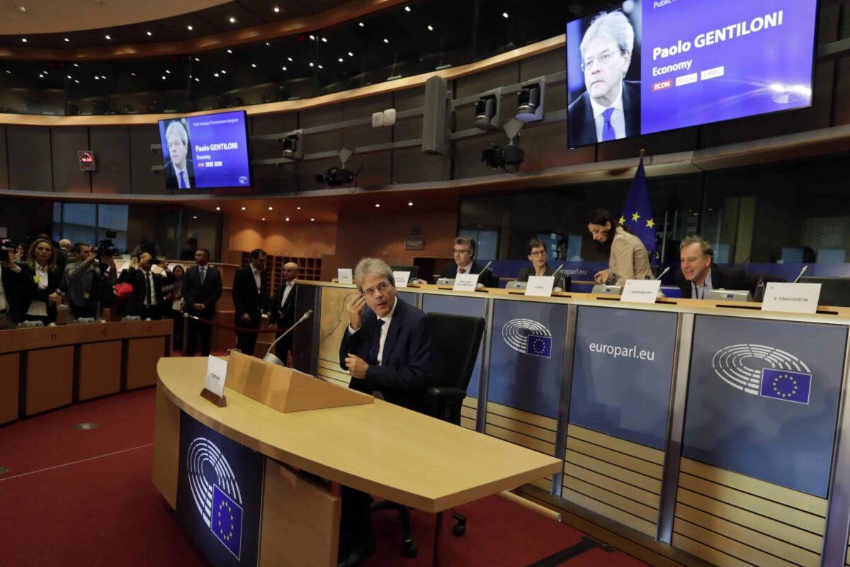 Gentiloni parlamento Ue