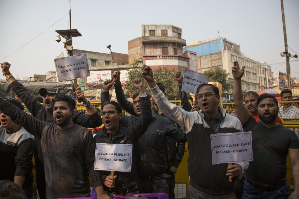 amazon india proteste