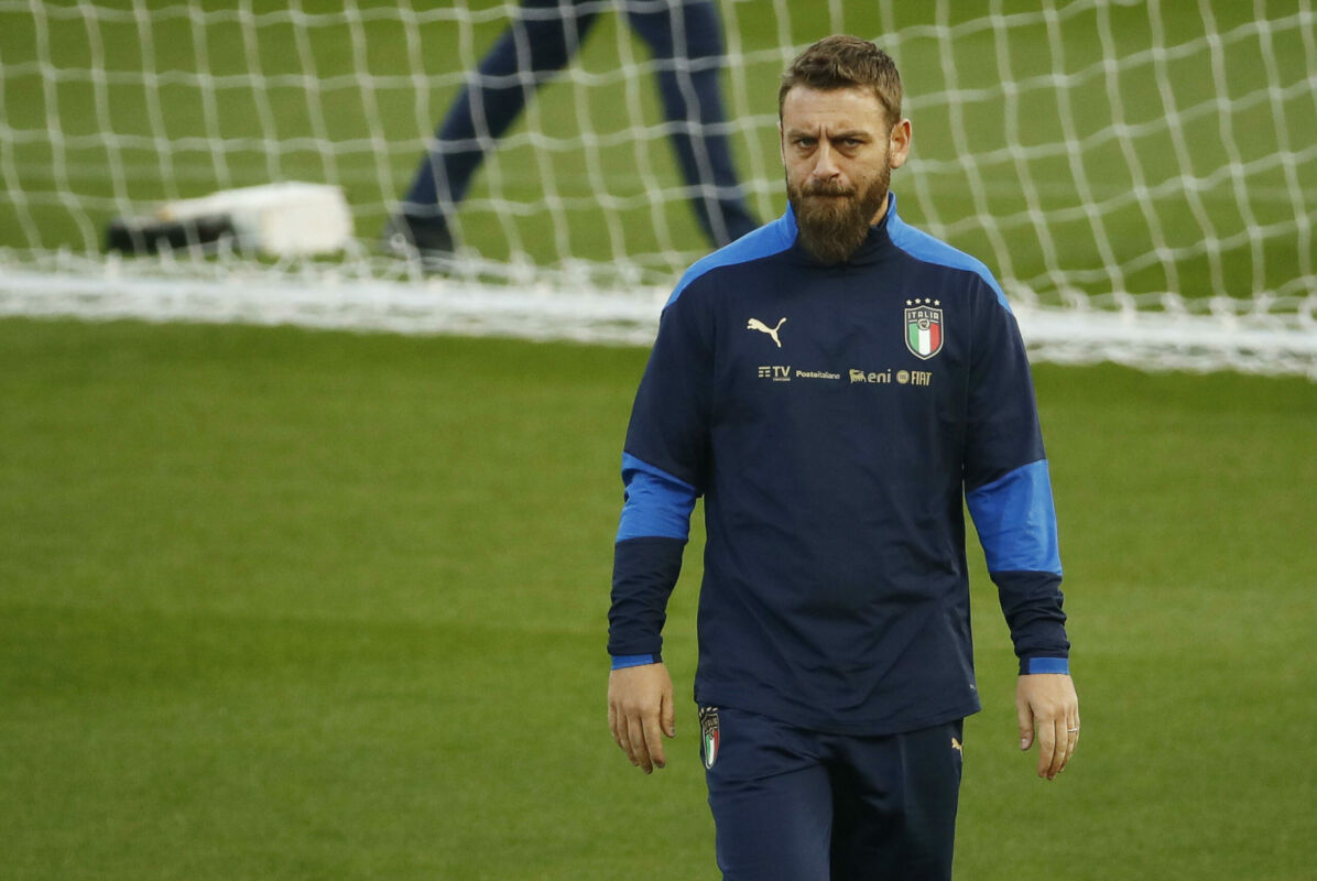 Italy's staff member Daniele De Rossi during the training session on the eve of the FIFA World Cup Qatar 2022 qualification round one soccer match Italy vs Northern Ireland at Ennio Tardini stadium in Parma, Italy, 24 March 2021. ANSA / ELISABETTA BARACCHI