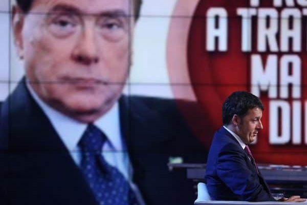 Il presidente del Consiglio Matteo Renzi ospite della trasmissione televisiva