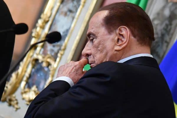 Leader of Forza Italia party Silvio Berlusconi reacts after a meeting with Senate Speaker Maria Elisabetta Alberti Casellati for a round of consultations after getting an exploratory government-formation mandate from Italian President Sergio Mattarella in Rome, Italy, 19 April 2018. President Mattarella has given Senate Speaker Casellati the task of verifying coalition possibilities following the 04 March general election in order to make a decision on to whom to give a mandate to form a new government. ANSA/ETTORE FERRARI