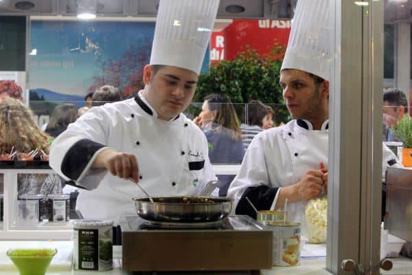 Un' immagine del Cibus di Parma, il salone internazionale dell'alimentazione da oggi al 15 maggio alla Fiera di Parma.GIORGIO BENVENUTI