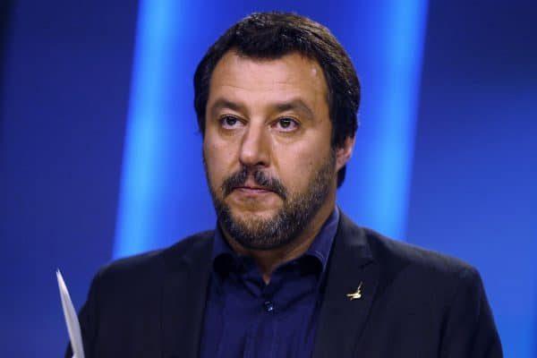 Matteo Salvini, ministro dell'Interno, durante la trasmissione 'Otto e mezzo' in onda su La7, Roma, 12 giugno 2018. ANSA/RICCARDO ANTIMIANI