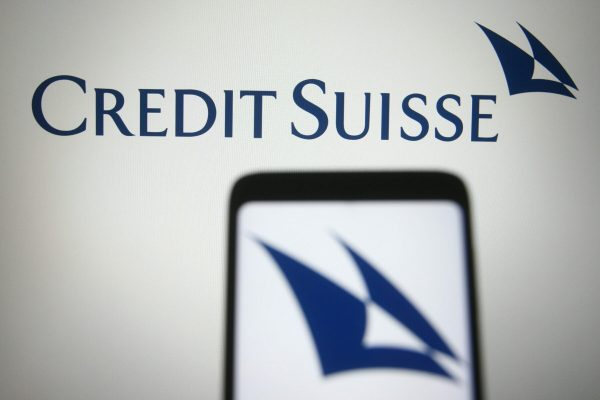 March 25, 2021, Ukraine: In this photo illustration the Credit Suisse logo of an investment banking company is seen on a smartphone and a pc screen. (Credit Image: © Pavlo Gonchar/SOPA Images via ZUMA Wire)