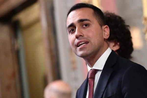 Luigi Di Maio, leader of Five Star Movement (M5S) party, addresses the media after a meeting with Senate Speaker Maria Elisabetta Alberti Casellati for a round of consultations after getting an exploratory government-formation mandate from Italian President Sergio Mattarella in Rome, Italy, 19 April 2018. President Mattarella has given Senate Speaker Casellati the task of verifying coalition possibilities following the 04 March general election in order to make a decision on to whom to give a mandate to form a new government. ANSA/ETTORE FERRARI
