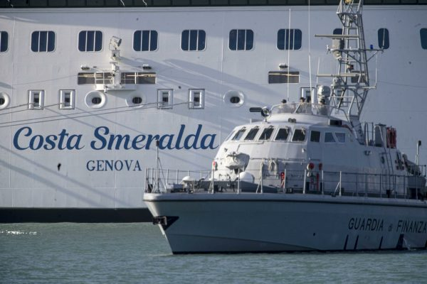 The cruise ship 'Costa Smeralda' is seen anchored in the port of Civitavecchia, northwest of Rome , Italy, 30 January 2020. Over 6,000 tourists were blocked in the cruise ship after the vast liner was placed on lockdown over two suspected cases of the deadly coronavirus. Samples from a Chinese couple were sent for testing after three doctors and a nurse boarded the Costa Crociere ship to tend to a woman running a fever, the local health authorities said. Costa Crociere confirmed that the ship, carrying some 7,000 people including the crew, was in lockdown. ANSA/MASSIMO PERCOSSI