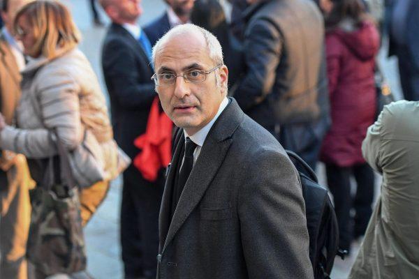 L'ex capo della Protezione Civile, Fabrizio Curcio, a margine della presentazione del libro