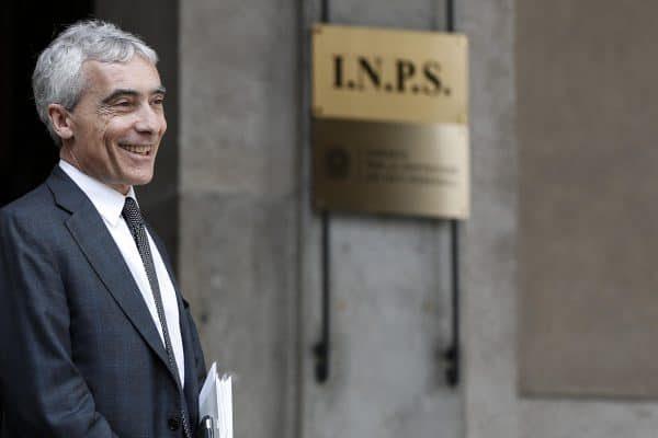 Tito Boeri, presidente dell'INPS, prima della conferenza stampa all'INPS sul reddito di inclusione (REI), Palazzo Wedekind, Roma, 28 marzo 2018. ANSA/RICCARDO ANTIMIANI