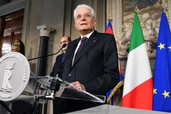 Italian President Sergio Mattarella adresses the media at the end of his meeting with the Italian parties at the Quirinal Palace during the third round of formal political consultations following the general elections, in Rome, Italy, 07 May 2018. Italian President Sergio Mattarella is holding a round of formal political consultations following the 04 March general election in order to make a decision on to whom to give a mandate to form a new government. ANSA/ETTORE FERRARI
