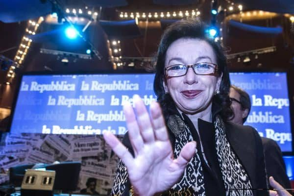 Monica Mondardini durante la celebrazione dei 40 anni di Repubblica all'auditorium Parco della Musica, Roma, 14 gennaio 2016. ANSA/ANGELO CARCONI - CLAUDIO PERI