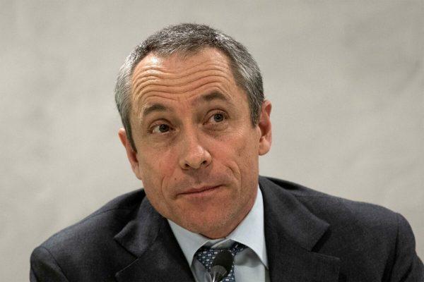 L'amministratore delegato di Poste Italiane Matteo Del Fante durante la conferenza stampa. Roma,19 marzo 2019ANSA/MASSIMO PERCOSSI
