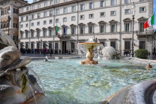 Una veduta esterna di Palazzo Chigi, Roma, 21 marzo 2018.ANSA/ALESSANDRO DI MEO