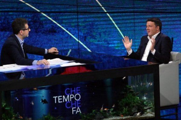 L'ex segretario del Pd Matteo Renzi ospite della trasmissione di Rai1