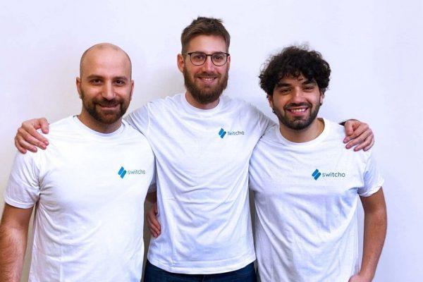 Switcho - foto founder - da sx Marco Tricarico, Francesco Laffi, Redi Vyshka