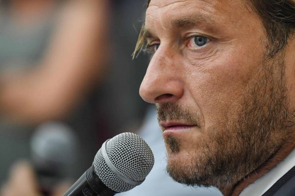 Former AS Roma captain Francesco Totti during a press conference at the offices of the Italian Olympic Committee (CONI) in Rome, Italy, 17 June 2019. AS Roma legend Francesco Totti announced that he was resigning from his position as an executive for the Serie A club. ANSA/ALESSANDRO DI MEO