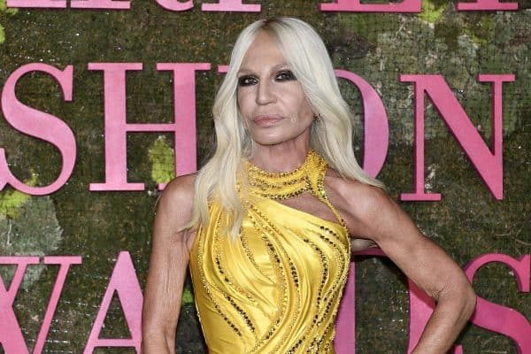 Italian fashion designer Donatella Versace attends Green Carpet Fashion Awards 2018, in Milan, Italy, 23 September 2018. The Spring Summer 2019 Women's collections are presented at the Milano Moda Donna from 19 to 23 September. ANSA/FLAVIO LO SCALZO
