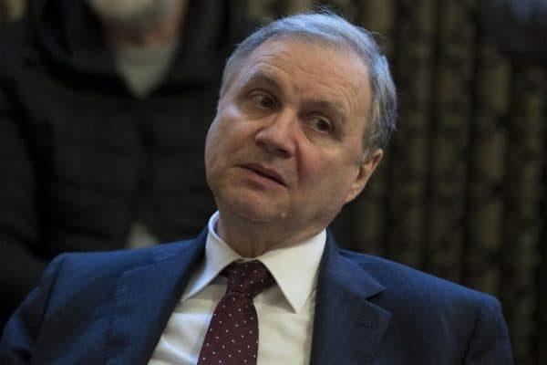 Ignazio Visco durante la presentazione del libro di Enrico Giovannini