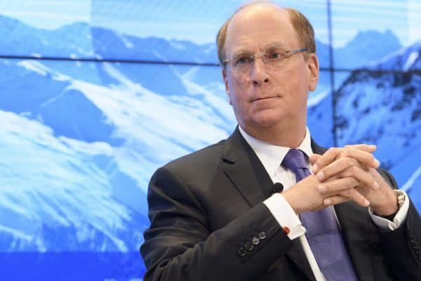 epa06473401 Laurence D. Fink, Chairman and CEO of BlackRock Inc. speaks during a panel session during the 48th Annual Meeting of the World Economic Forum, WEF, in Davos, Switzerland, 25 January 2018. The meeting brings together entrepreneurs, scientists, corporate and political leaders in Davos, January 23 to 26. EPA/LAURENT GILLIERON