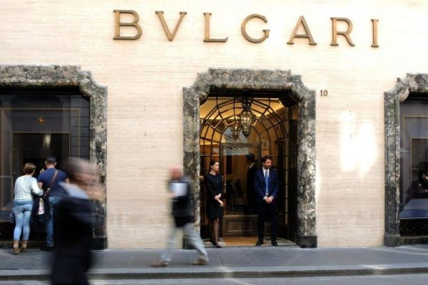 A general view of the historic shop of jewels Bulgari after restoration in the center in Rome, Italy, 20 March 2014. Carla Bruni Sarkozy will cut the ribbon this evening to inaugurate the renovated historic shop in Via Condotti, decorated by architect Peter Marino.ANSA/CLAUDIO ONORATI