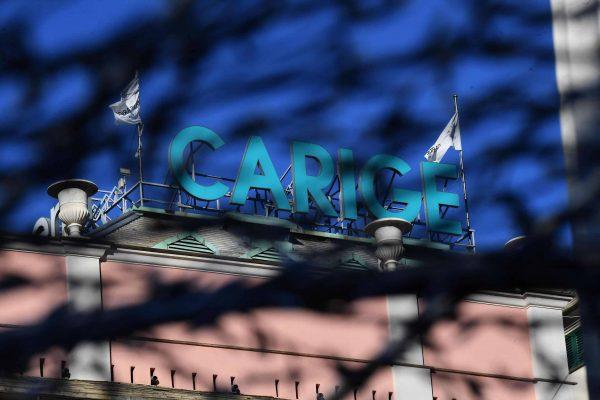Una veduta esterna della banca Carige, Genova, 2 gennaio 2019. ANSA/LUCA ZENNARO