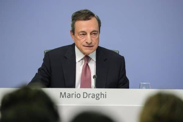 epa07017146 Mario Draghi, President of the European Central Bank (ECB), speaks during a press conference following the meeting of the Governing Council of the European Central Bank in Frankfurt Main, Germany, 13 September 2018. EPA/ARMANDO BABANI