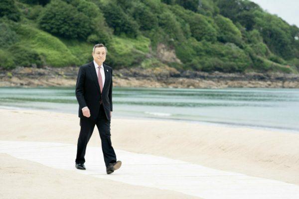Il presidente del Consiglio Mario Draghi al G7 di Carbis Bay (Gran Bretagna), 11 giugno 2021. ANSA/FILIPPO ATTILI UFFICIO STAMPA PALAZZO CHIGI