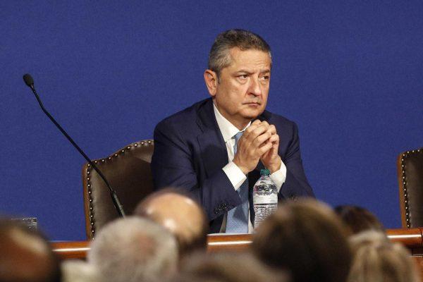 Fabio Panetta durante la relazione annuale del governatore della Banca d'Italia Ignazio Visco, Roma, 29 maggio 2018. ANSA/GIUSEPPE LAMI