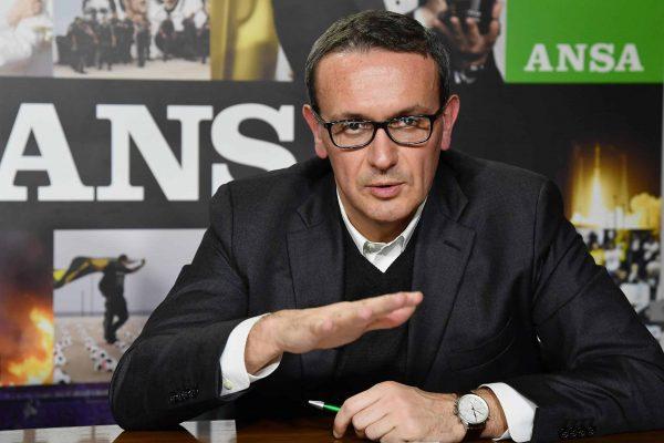 Il country manager di Facebook Italia, Luca Colombo, durante il Forum Ansa, Roma, 30 Marzo 2017 . ANSA/ETTORE FERRARI