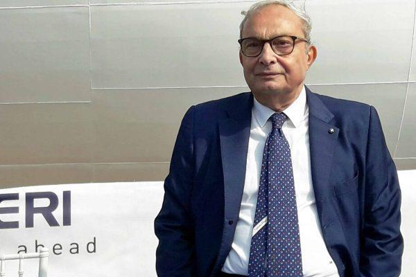 L'ad di Fincantieri Giuseppe Bono durante il varo della Viking Orion. Ancona, 28 settembre 2017. ANSA/ DANIELE CAROTTI