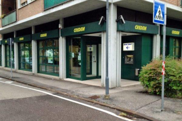 La filiale di Trento di Credem. ANSA/UFF STAMPA CREDEM +++NO SALES, EDITORIAL USE ONLY+++