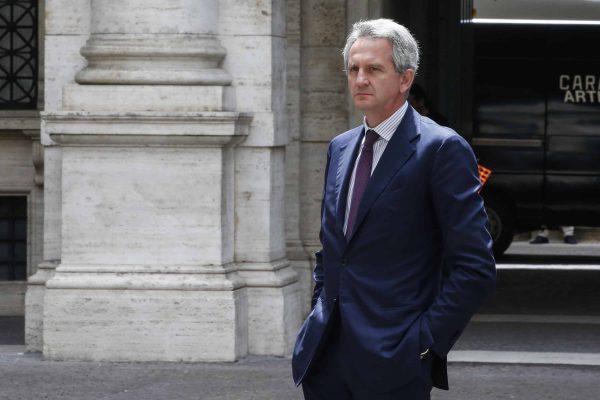 Alberto Nagel alla Relazione annuale della Banca d'Italia, Roma, 29 maggio 2018. ANSA/FABIO FRUSTACI