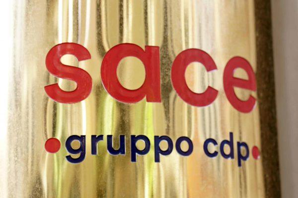 Roma, 11 marzo 2019 - Il nuovo logo della SACE SpA (Gruppo cdp). ANSA/US SACE.