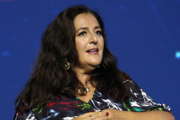 Angela Missoni, presidente e direttore creativo Missoni, in occasione del Forum dell'Economia Digitale, Milano, 11 Luglio 2019.ANSA / MATTEO BAZZI