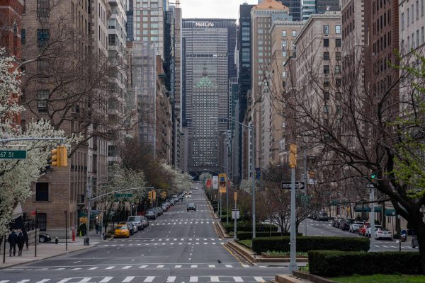 March 22, 2020, New York, United States: A view of an empty Park Avenue in Midtown Manhattan ahead of the implementation of 'New York State on PAUSE' executive order as the coronavirus continues to spread across the United States..The World Health Organisation declared coronavirus (COVID-19) a global pandemic on March 11th. (Credit Image: © Ron Adar/SOPA Images via ZUMA Wire)