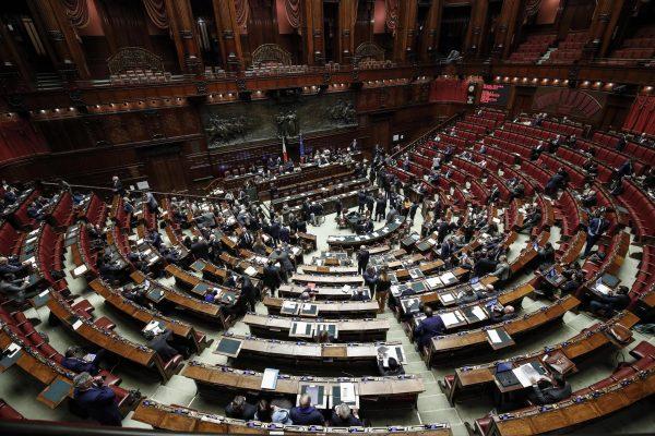 L'Aula della Camera dei Deputati durante il voto di fiducia sul decreto semplificazione, Roma 6 febbraio 2019. ANSA/GIUSEPPE LAMI