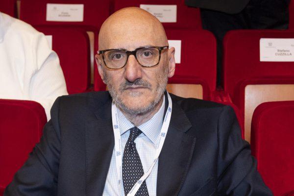 L'amministratore delegato di Poste Italiane, Francesco Caio, in occasione dell'Assemblea di Confindustria 2019 a Roma, 22 maggio 2019. ANSA/CLAUDIO PERI