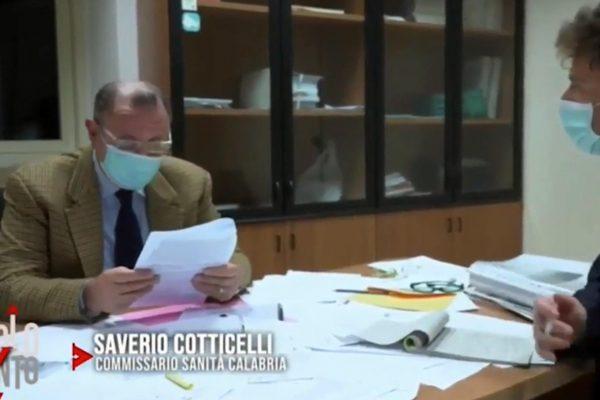 Il commissario ad acta per la Sanita' in Calabria, generale Saverio Cotticelli , durante l'intervista alla trasmissione di Raitre