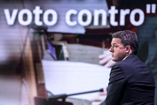 "Leader of Italian party ""Italia Viva"", Matteo Renzi, attends the Raiuno Italian TV program ""Porta a porta"" conducted by Italian journalist? Bruno Vespa in Rome, Italy, 09 December 2020. ANSA/ANGELO CARCONI"