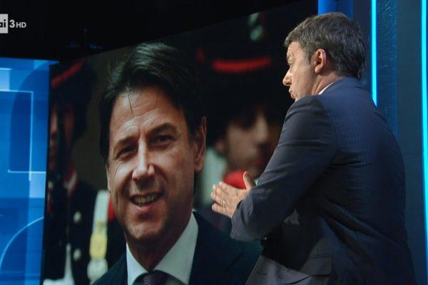 (fotogramma da video) il leader di Iv, Matteo Renzi ospite della trasmissione televisiva Cartabianca, condotta da Bianca Berlinguer su Rai Tre, 15 dicembre 2020.ANSA/RAI TRE