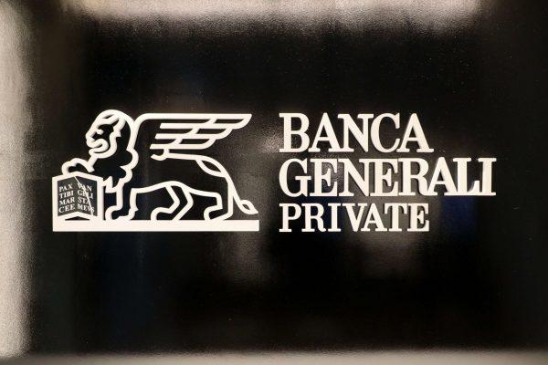 Il logo di Banca Generali Private in occasione della presentazione dell'Innovation Hub. Milano 4 Febbraio 2020.ANSA / MATTEO BAZZI