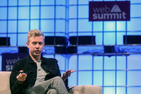 epa06315775 Steve Huffman CEO of Reddit speaks on the third day of the 7th Web Summit in Lisbon, Portugal, 08 November 2017. The annual technology and internet conference attracts over 60,000 attendees from more than 100 countries, according to the organizers. EPA/MIGUEL A. LOPES