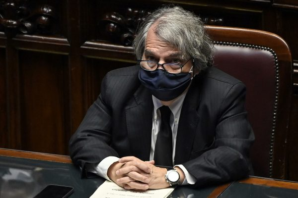 Renato Brunetta, minister for Public Administration, as Italian Prime Minister Mario Draghi delivers a speech at the Lower House before the upcoming European Council meeting, Rome, Italy, 23 June 2021. ANSA/RICCARDO ANTIMIANI