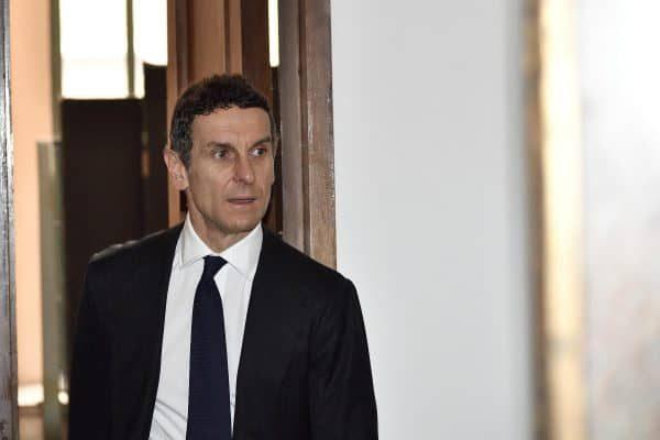 L'amministratore delegato di Mps Marco Morelli in occasione del processo a carico ex vertici Mps per presunte irregolarità in operazioni finanziarie, Milano, 8 marzo 2018.ANSA/ FLAVIO LO SCALZO