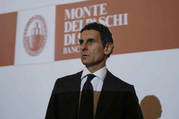 Monte dei Paschi di Siena bank CEO and general director Marco Morelli, attends a press conference, in Milan, Italy, Wednesday, July 5, 2017. The Italian government is taking control of troubled bank Monte dei Paschi di Siena and will try to relaunch it in a plan that includes disposing of a massive 28.6 billion euros ($32.5 billion) in bad loans. (ANSA/AP Photo/Luca Bruno) [CopyrightNotice: Copyright 2017 The Associated Press. All rights reserved.]
