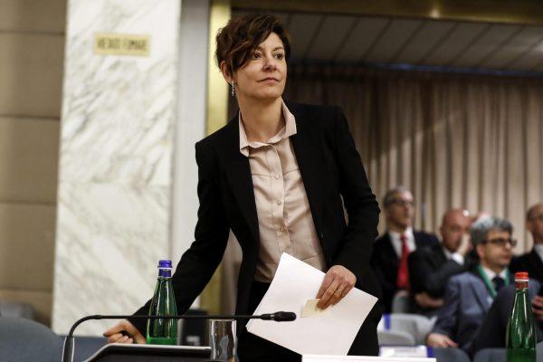 Il ministro dellÕInnovazione Tecnologica e la Digitalizzazione Paola Pisano durante la conferenza sulla promozione del Made in Italy, Ministero degli Affari Esteri, Roma, 3 marzo 2020. ANSA/RICCARDO ANTIMIANI