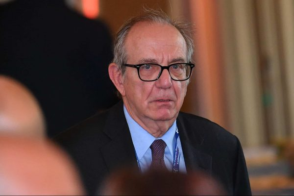 Former Italian Economy Minister Pier Carlo Padoan at the Ambrosetti Economical Forum in Cernobbio, Italy, 8 September 2018. The 44th edition of the forum with its title 'Intelligence on the World, Europe, and Italy' is held from 07 to 09 September and gathers heads of state and government, top representatives of European institutions, ministers, Nobel prize winners, businessmen, managers and experts from around the world to discuss global political and economical topics. ANSA/DANIEL DAL ZENNARO